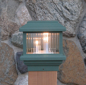Aurora Deck Lighting: Titan Post Top Deck Light (110 volt)