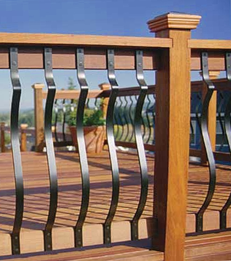 Deckorators 40 Quot Baroque Deck Baluster Black