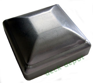 Standard Galvanized Post Cap 3 1/2 inch