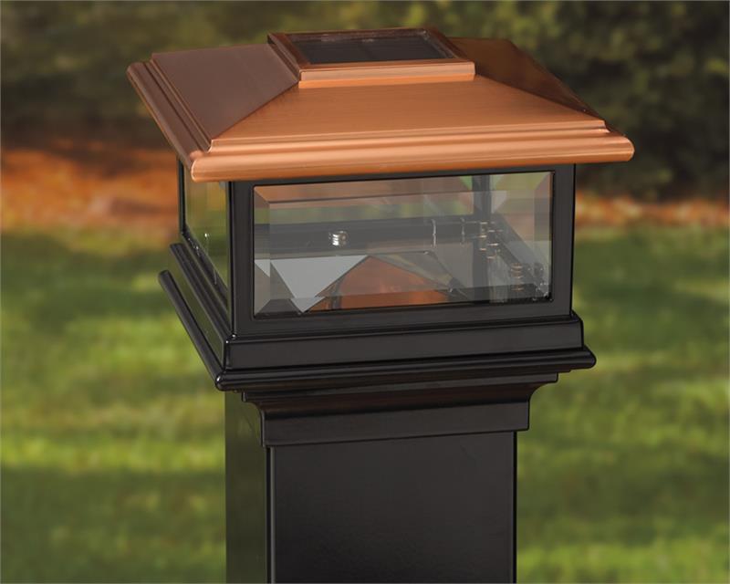 Residential Solar Light Post: Deckorators Solar Post Cap Light