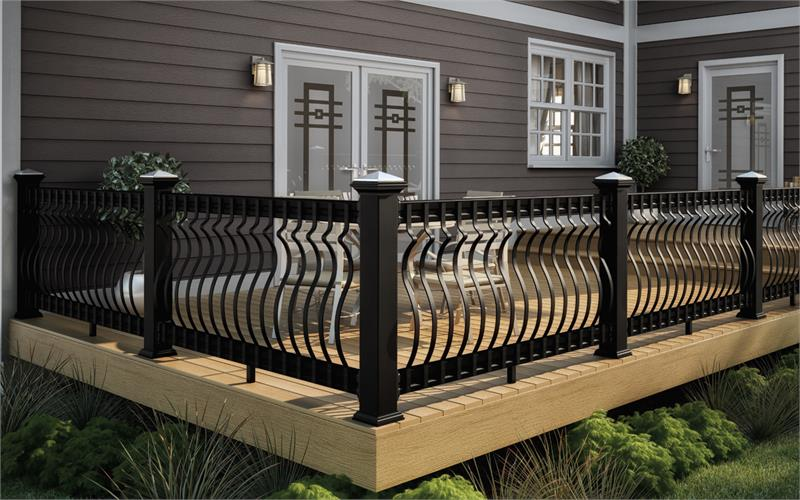 32 3 16 Quot Baroque Deck Baluster Black