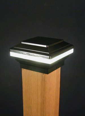 Aurora Saturn LED Deck Post Light 3 1 2
