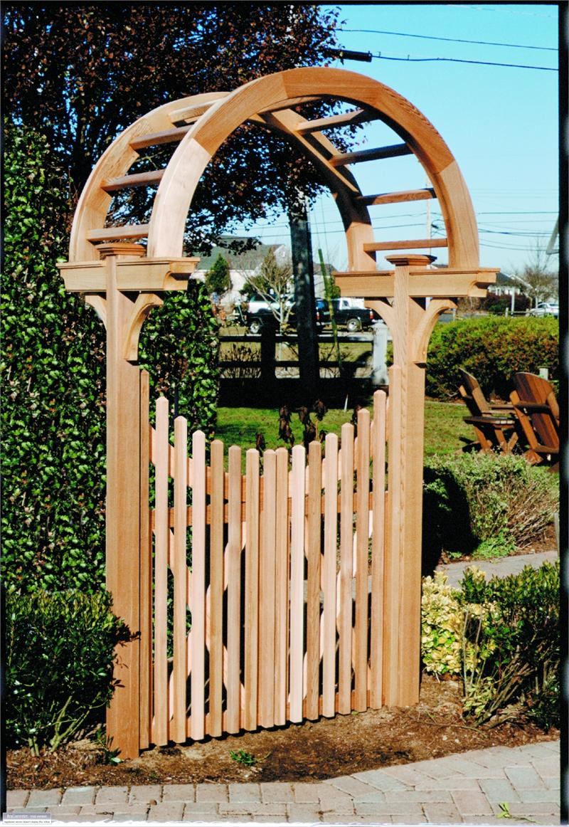 Why wood share arbor gate plans for Gate arbor plans