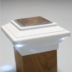 Aries Solar Post Cap Light By Aurora Deck Lighting