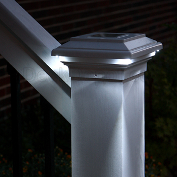 Aries Solar Post Cap Light By Aurora Deck Lighting