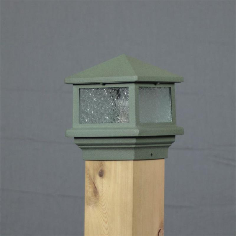 Aurora Sirius Deck Post Light 3 1 2 Quot Green