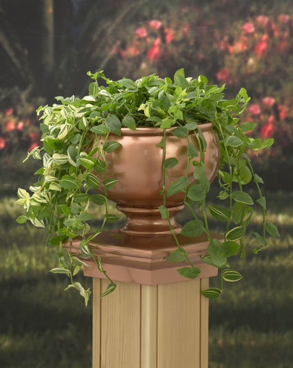 Round Copper Planter Post Cap