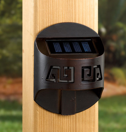 Solar railing lights