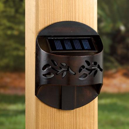 Leaf Solar Accent Railing Light