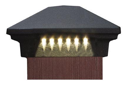 dekor rondi led post cap light 3 1 2. Black Bedroom Furniture Sets. Home Design Ideas