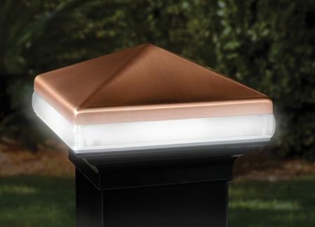 deckorators aluminum light band post cap 4 black copper. Black Bedroom Furniture Sets. Home Design Ideas