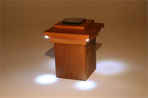 nantucket bar harbor solar wooden post cap