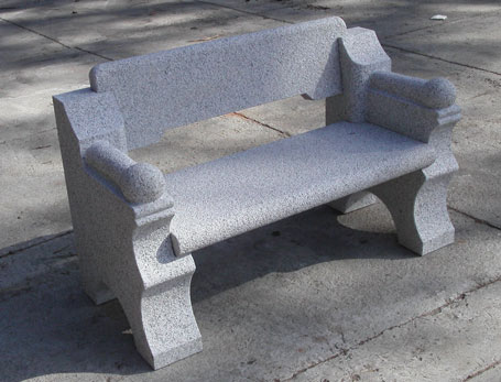New England Style Granite Bench