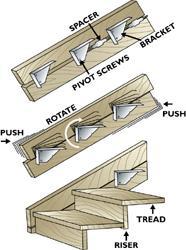 deck stair stringer brackets