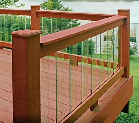 Deckorators 32 Quot Clear View Glass Deck Baluster