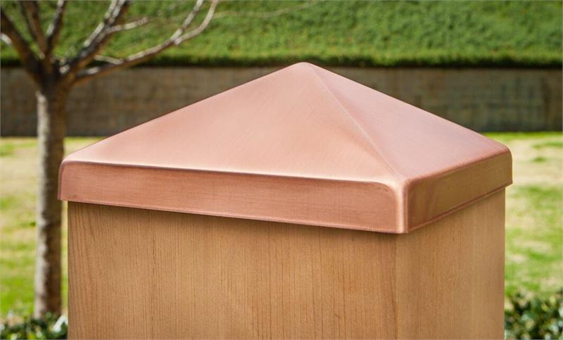 Solid Copper Pyramid Post Cap