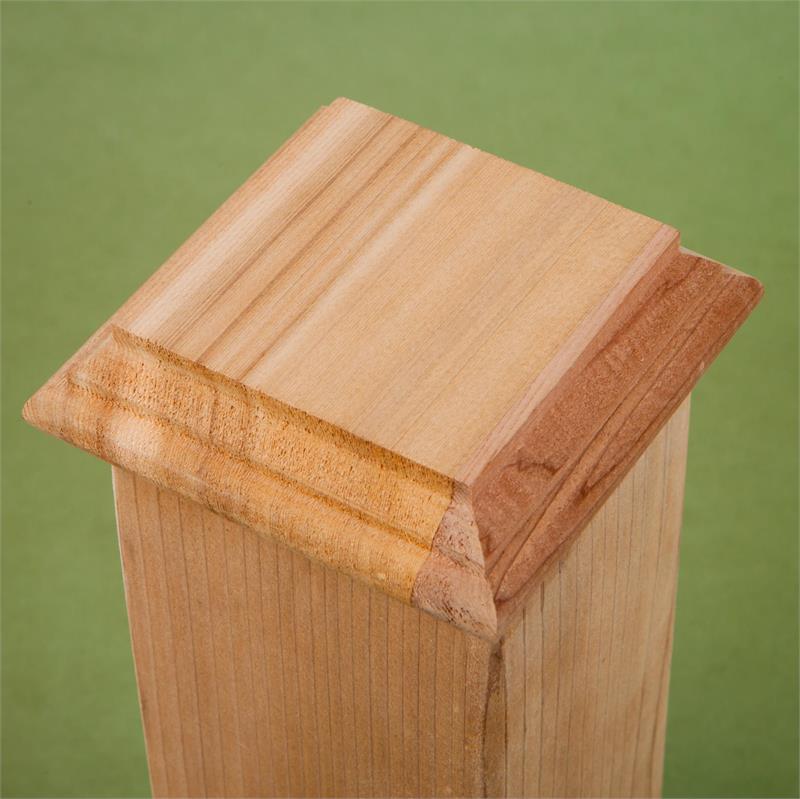 Flat Bottom Cedar Post Cap