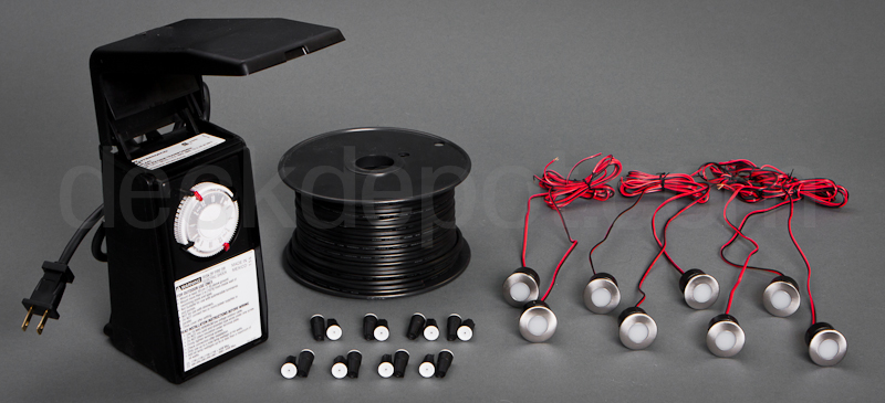 Highpoint mini round led deck lighting kit highpoint mini round led light kit mozeypictures Gallery