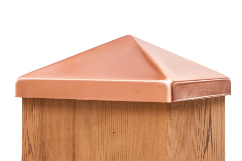 Solid Copper Pyramid Post Cap