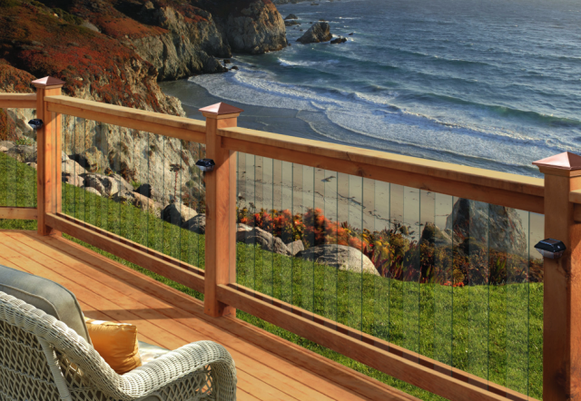 Deckorators 32 U0026quot  Clear View Glass Deck Baluster