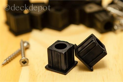 Estate Stair Connector Black-20 pk with Screws