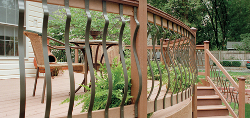 deck rail wiring 40  baroque    deck    baluster bronze  40  baroque    deck    baluster bronze